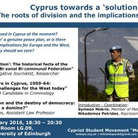 Cyprus towards a 'solution'? The roots of division and the implications for Europe.