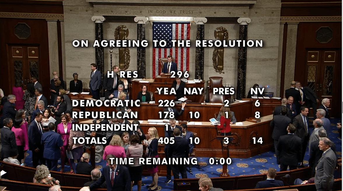 Ιστορική Η Απόφαση της «Κάτω Βουλής» των ΗΠΑ